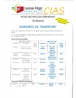 HORAIRES DE TRANSPORT
